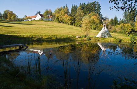 Yogamelange Retreat am Rosenhof_Umgebung Tipi