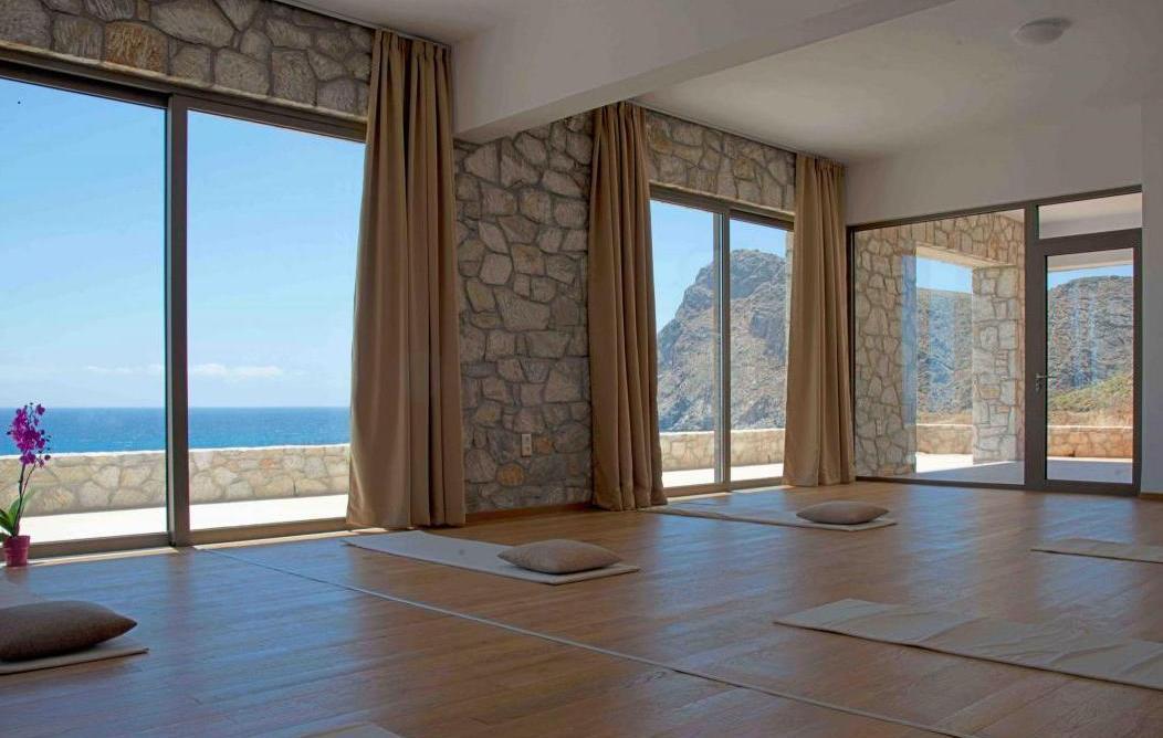 Yogamelange_Kreta Reise mit Sarem_Yogaraum